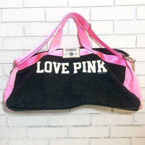 Victoria's Secret PINK Canvas Duffle Bag Tote Lg